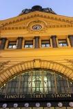 Estación ocupada de la calle del Flinders Fotos de archivo