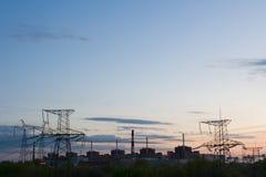 Estación-orgullo de la energía atómica y energía eléctrica del país fotos de archivo