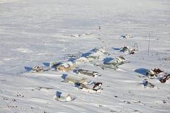 Estación polar abandonada Imágenes de archivo libres de regalías