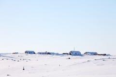 Estación polar en el ártico Fotografía de archivo libre de regalías