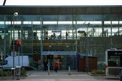 Estación principal Baden de la fachada de cristal Imagen de archivo libre de regalías
