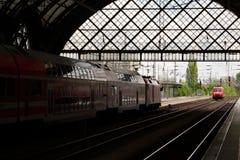 Estación principal de Dresden foto de archivo