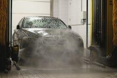 Estación que se lava del coche Foto de archivo libre de regalías