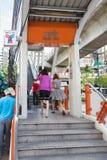 Estación tailandesa del skytrain de Phaya en Bangkok Fotos de archivo