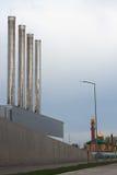 Estación termal Grey Sky Fotografía de archivo libre de regalías