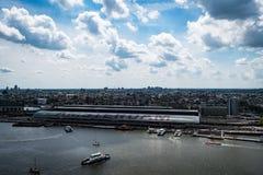 Estaci?n de la central de Amsterdam foto de archivo