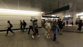 Estaci?n de metro de Nueva York en Hudson Yards almacen de metraje de vídeo