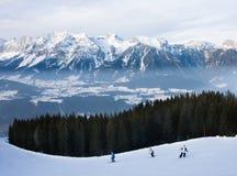 Estación de esquí Schladming. Austria Imagen de archivo