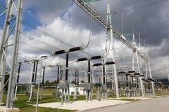 Estación de la electricidad Imagenes de archivo