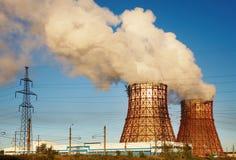 Estación de la energía eléctrica Fotografía de archivo libre de regalías