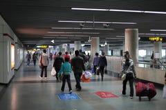 Estación de metro de Shangai Imagenes de archivo