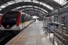 Estación de metro de Shangai Imagen de archivo libre de regalías