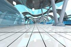 Estación de metro futurista Imagenes de archivo