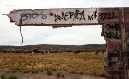 Estación de servicio abandonada, Utah Fotos de archivo