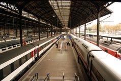Estación de tren de Basilea Foto de archivo libre de regalías