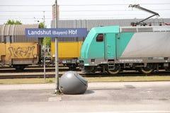 Estación de tren de Landshut Imagen de archivo libre de regalías