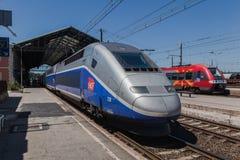 Estación de tren de Narbona Francia Fotografía de archivo libre de regalías