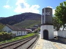 Estación de tren de Pinhao Foto de archivo libre de regalías