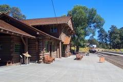 Estación de tren del pueblo de Grand Canyon Imágenes de archivo libres de regalías