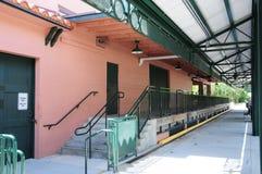 Estación de tren en la Florida Imágenes de archivo libres de regalías