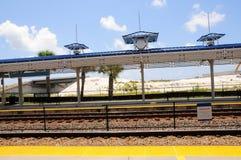 Estación de tren en la Florida del sur Fotografía de archivo libre de regalías