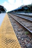 Estación de tren en la opinión de perspectiva, la Florida (vertical) Imagenes de archivo