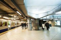 Estación de tren subterráneo de Londres Fotos de archivo libres de regalías