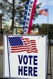Estación del colegio electoral de la elección Imágenes de archivo libres de regalías