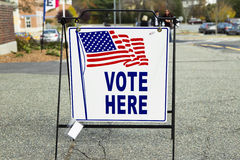 Estación del colegio electoral de la elección Foto de archivo