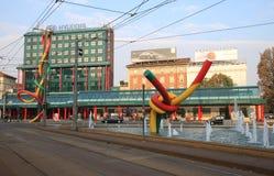 Estación del tren y de metro de Cadorna, Milano, Italia Imagen de archivo libre de regalías