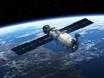 Estación espacial en espacio Imagenes de archivo