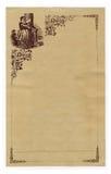 Estacionário antigo embellished com menina bonita Imagens de Stock