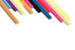 Estacionário colorido no branco. Foto de Stock