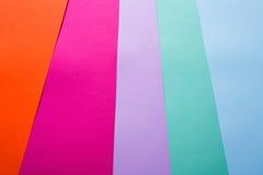 Estacionário, grupo de papel colorido, textura fotos de stock