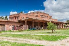 Estacion Presidente Aniceto Arce, old railway station in Sucre, Boliv. Ia royalty free stock photo