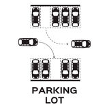 estacionamento Imagens de Stock Royalty Free