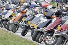 Estacionamento da motocicleta Foto de Stock Royalty Free