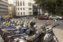 Estacionamento das motocicletas Fotografia de Stock Royalty Free