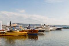 Estacionamento de barcos dos barcos Foto de Stock Royalty Free