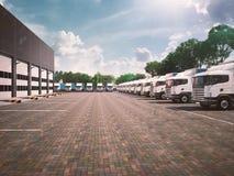 Estacionamento do caminhão frete ilustração royalty free