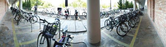 Estacionamento do ciclo Fotografia de Stock Royalty Free
