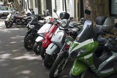 Estacionamento do 'trotinette' Imagens de Stock