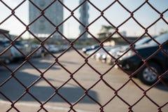 Estacionamento exterior dos carros Fotografia de Stock Royalty Free