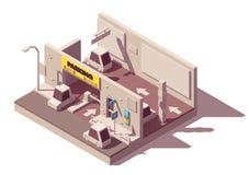 Estacionamento multistorey isométrico do carro do vetor ilustração royalty free