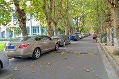 Estacionamento público fotografia de stock