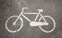 Estacionamento para bicicletas Fotografia de Stock Royalty Free