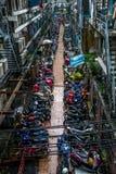 Estacionamento para bicicletas em Banguecoque imagens de stock