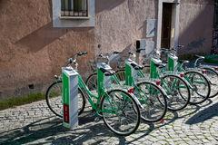 Estacionamento para o ciclo urbano Foto de Stock Royalty Free