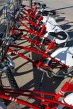 Estacionamento público da bicicleta, Barcelona Fotografia de Stock Royalty Free