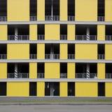 Estacionamento preto e amarelo Foto de Stock Royalty Free